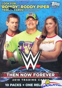 2018 Topps WWE Wrestling Then Now Forever EXCLUSIVE Sealed Blaster Box-RELIC