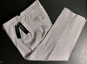 Jones New York Womens Sz 16 Grace Ankle Pants Navy/White Stripe Stretch W16 NWT!
