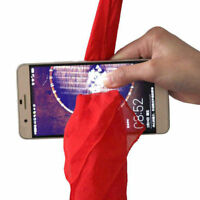 Silk Magic Phone Red Close Up Through Trick Thru Show Prop Tricks Street Scarf