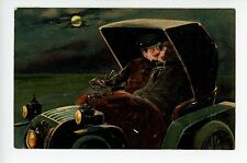 Kissing in Model T (?) Antique Car Embossed PC Series 5999 Automobile ca. 1907
