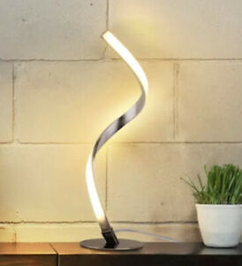 Albrillo Spiral Design LED Table Lamp - Touch Sensor Dimmable Desk (3 Colors)