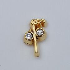 Masonic Two Ball Cane Small Tiny Lapel Pin Mason Freemason