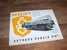 Prospectus / Sales Leaflet  Brochure BERLIET Autobus urbain PLR10 1955 //