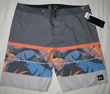 "New Quiksilver Slab Island 21"" Gray Boardshorts Swim Shorts Trunks Mens Size 30"