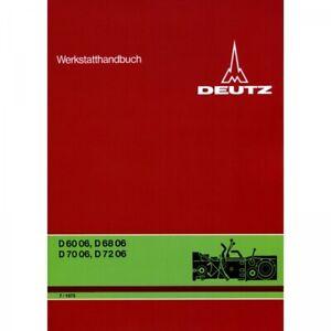 Deutz Getriebe für D6006 D6806 D7006 und D7206 Traktor Werkstatthandbuch