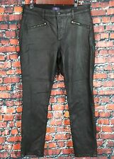 NYDJ NOT YOUR DAUGHTER'S Women's Jeans Black Legging Pleather - Zipper Detailing