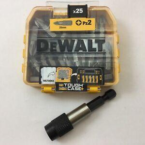 DEWALT PZ2 25mm tough case 25pc DT71521-QZ + 1 X ASTRA 60mm quick rel bit holder