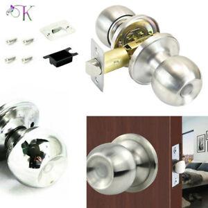 Stainless Steel Door Knobs Lock Bathroom/Bedrooms/Passage Latch