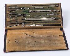 Vintage Schoenner German Drafting Drawing Tool Set 10 Piece Set in Case