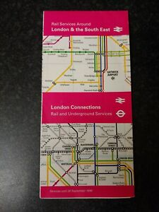 London Transport Rail and Underground Leaflet Route London Connections (7.36)