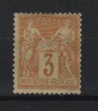 "FRANCE STAMP TIMBRE YVERT N° 86 "" SAGE 3c BISTRE SUR JAUNE "" NEUF xx TB  R684"