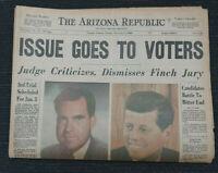 1960 Presidential Election - Kennedy - Nixon - Phoenix, Arizona newspaper