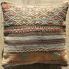 (40*40cm, 16inch) Boho style vintage kilim cushion cover pastel faded brocade