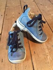 Blue Ankle Boots By Ecco.  Sz UK 4.5  ( Infants)