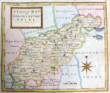 NORTHAMPTONSHIRE NORTHAMPTON   BY THOMAS OSBORNE  GENUINE ANTIQUE MAP  c1748