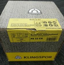CLEARANCE!! Klingspor PS33CK 125mm 60grit Velcro Discs x 100