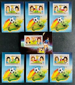 S/S & Deluxe Blocks Stamps Spanish World Cup 82 Players and results/ Tchad Perf.