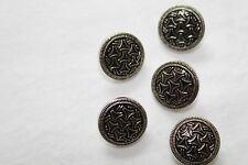 Los botones de espalda náutico de caña de plata 15 mm (5pk)