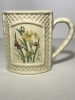 Butterfly Garden Trellis Coffee Mug - Vintage Enesco Made in Japan 1978