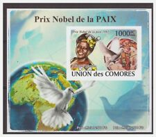 0070 Comores 2008 Nobel laureaten peace pigeon1991 S/S Mnh imperf