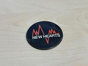 "Vintage (1970s) New Hearts Pin Badge New Wave Band 1.5"""