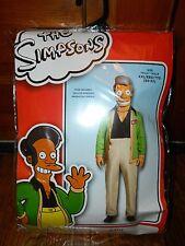 The Simpsons Apu Kwik E Mart Deluxe Adult Deluxe Halloween Costume Sz XXL 50-52