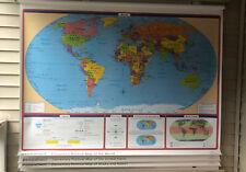 Rand McNally World, USA, States, Georgia Pull Down Classroom 4 Maps- Elementary