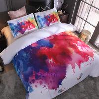 Double/Queen/King/Super King Bed Quilt/Doona/Duvet Cover Set Color Splash-ink