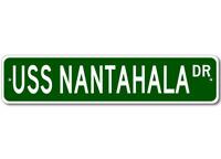 USS NANTAHALA AO 60 Ship Navy Sailor Metal Street Sign - Aluminum