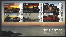 NEW ZEALAND 2019 ANZAC DAWN SERVICE MINIATURE SHEET FINE USED