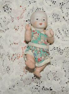 "Vintage Nippon /Japan 5"" Miniature Oriental Bisque Head Doll Comp. Body"