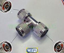 Adapter N male TYPE plug to 2 x N Male Plug RF Splitter T Type Connector Convert