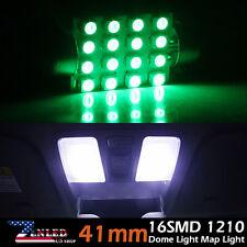 2x 41mm 16LED 3528 Green SMD Festoon Dome Car Interior Map Light Bulb 212-2 560