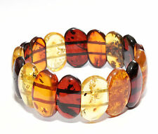 Genuine Baltic Amber Bracelet 20.6 g Stretch Mixed Authentic