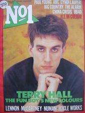 NO 1 (NUMBER ONE) MAGAZINE 28/1/84 - TERRY HALL - CYNDI LAUPER - GARY NUMAN