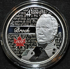 2012 Brock $4 Fine Silver Coin - Hereos of 1812 - Sir Isaac Brock