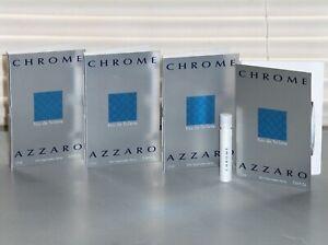 CHROME by AZZARO Men's eau de Toilette Sample, Spray Samples (4) X .04 oz., NEW