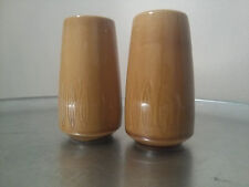 Mid Century ultra 70's Atomic salt and pepper shakers. Golden Brown.