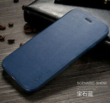 X-level Case for iPhone 7 6s Plus Luxury Leather Wallet Flip Stand Cover S003 Navy Blue for iPhone 6