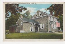 Usa, Washinton's Headquarters, Valley Forge, Pa. Postcard, B226