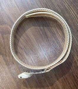Handcrafted Mens Large 34-36 Rattlesnake Snake Skin Head Belt Buckle Western