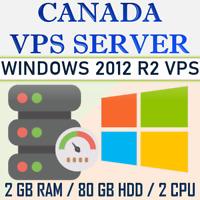 CANADA - Windows Server 2012 VPS - 2 GB - 48 GB RAM + 80 GB - 1500 HDD