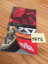 Aprilia RSV1000 racing parts prospekt publicité prospectus brochure catalogue