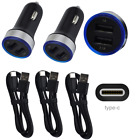 Dual USB Car Charger Plug Type C Data Sync Cable Cord For Google Pixel 6 5 4 XL