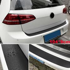 Car Accessories Rear Bumper Trunk Tail Lip Protect Carbon Fiber Stickers Black