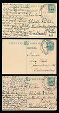 SOUTH WEST AFRICA 1936-41 SPRINGBOK STATIONERY SWAKOPMUND BATHING PMKS...3 CARDS