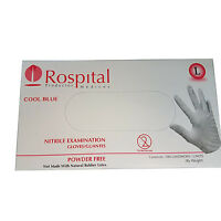 Nitrile Medical Gloves Disposable COOL BLUE Powder & Latex Free Exam 100 Pcs