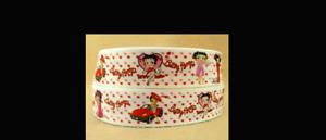 Betty Boop Ribbon 1m long Love Hearts