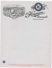 vintage Hamm's Beer Unused Factory Letterhead Fergus Fall's Mn