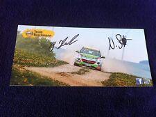 CP POSTCARD CARTOLINA OPEL ADAM STOTEFALKE SIGNED RALLY RALLYE WRC 2014